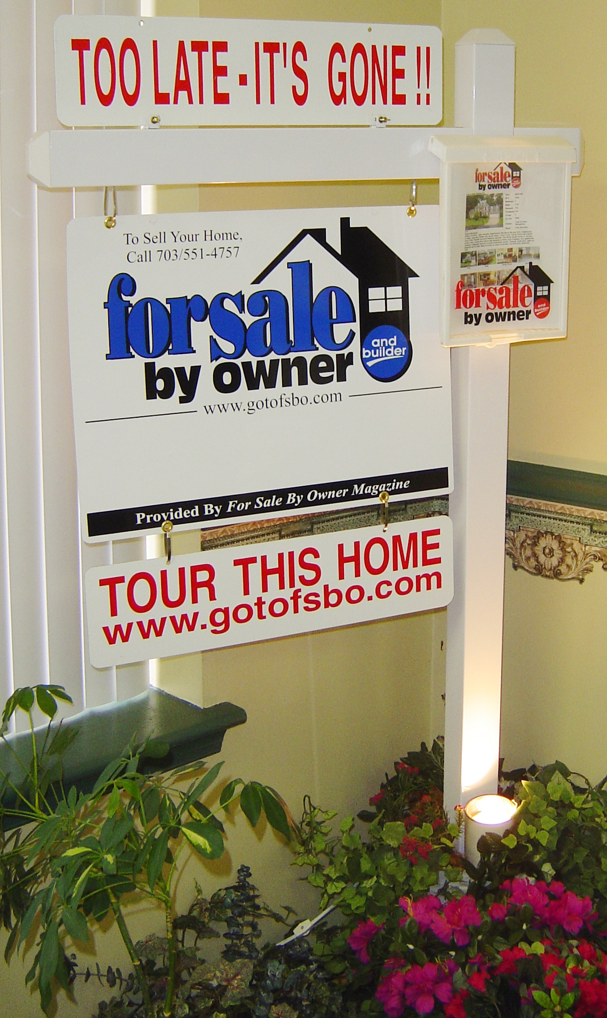 For Sale By Owner Post Sign Virginia FSBO Flat Fee MLS Listing Signs