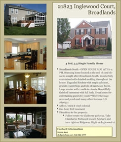FSBO For Sale By Owner Flat Fee MLS Listing Flyers VA Virginia Professional Flyers Professional Brochure Handouts
