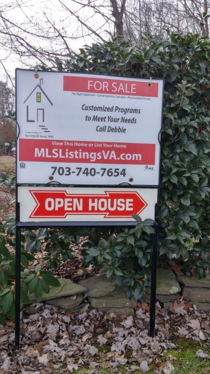 Flat Fee MLS Listings Frame Sign for For Sale By Owner Home Sales FSBO VA Virginia