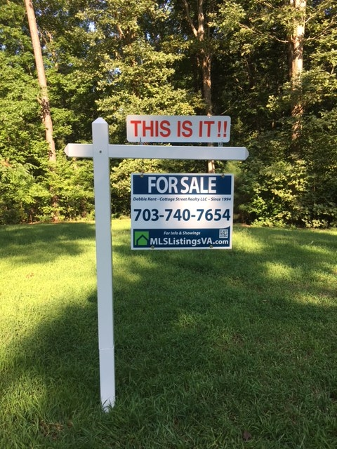 Professionally Installed Post Yard Sign for Home Sellers FSBO VA Virginia