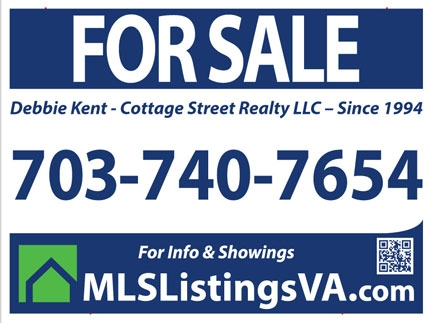 Flat Fee MLS Listing Yard Sign for Homes For Sale By Owner Virginia