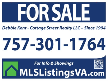 Flat Fee MLS Listing Sign for Virginia Beach Area Homes For Sale By Owner