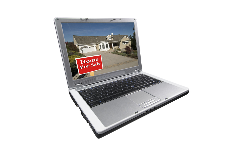 Laptop showing photo of flat fee mls listing virginia home