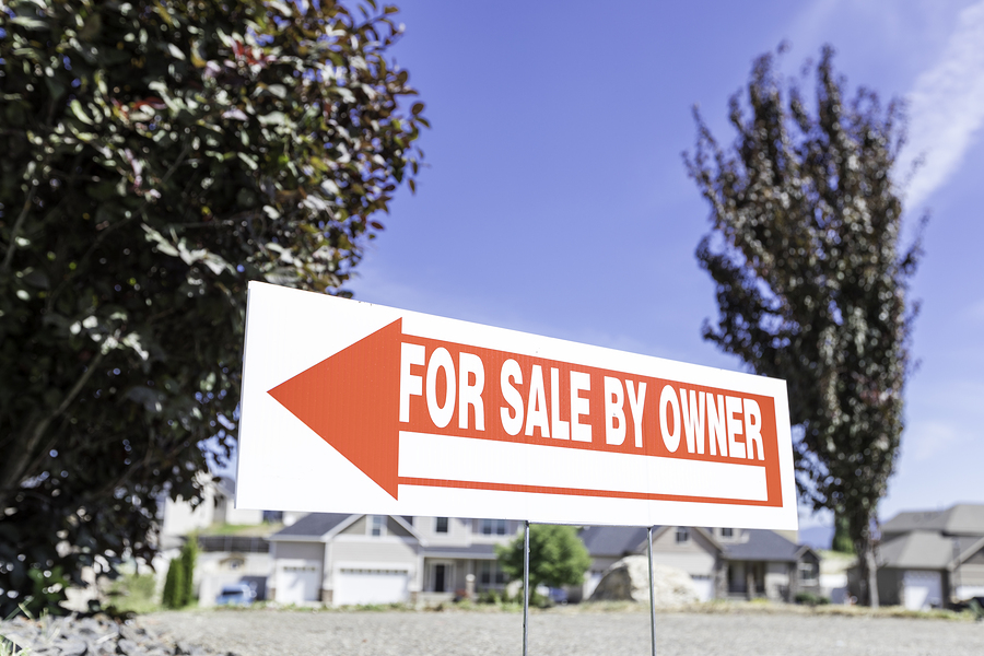 For sale by owner sign part of most flat fee listing MLS packages