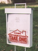 For Sale By Owner Brochure Box for FSBO Flyers for Flat Fee MLS Listings VA Virginia