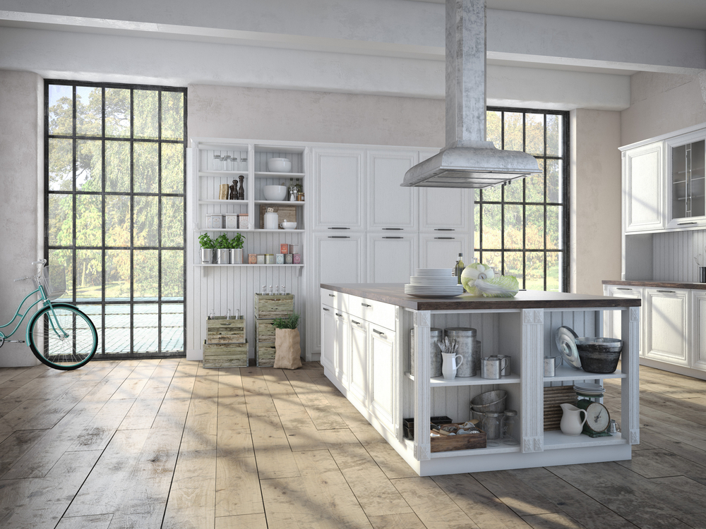 Showcase listing option beautiful country kitchen interior of home for sale