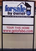 For Sale By Owner Home Sales Frame Sign for FSBO Listings Virginia VA