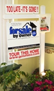 For Sale By Owner Post Sign for Flat Fee MLS Listings FSBO VA Virginia